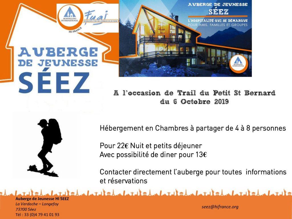 thumbnail of Flyer Trail du petit St Bernard Auberge de Séez – 2020